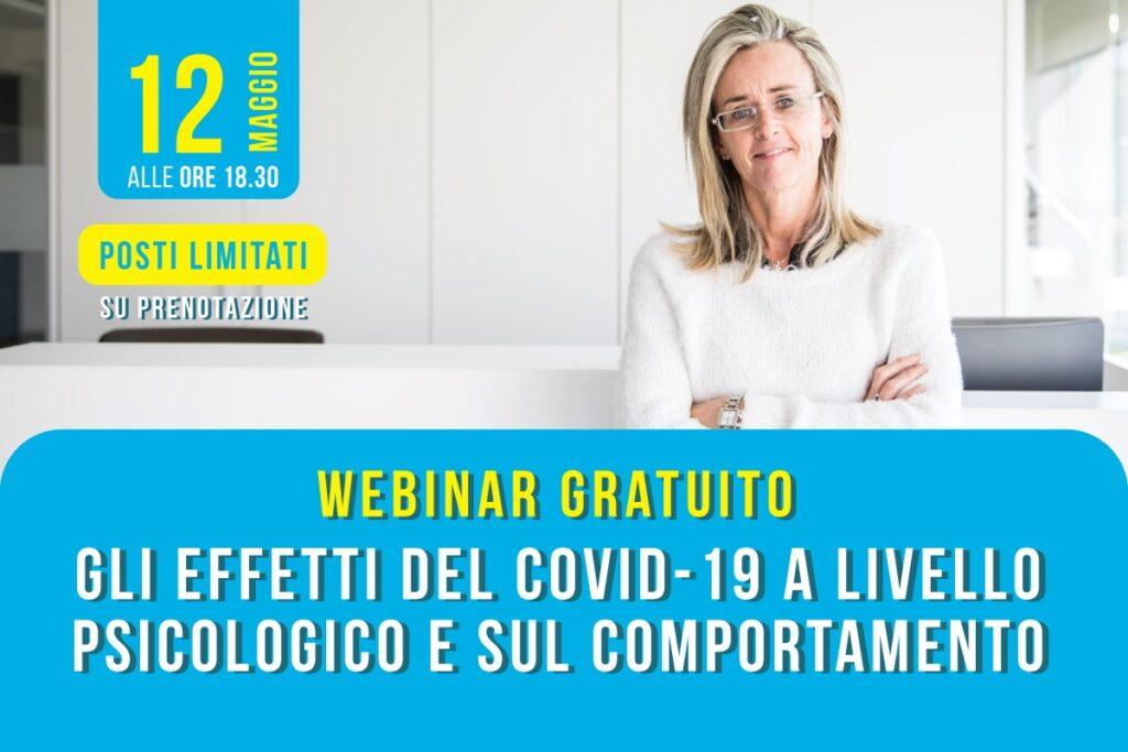 Webinar gratuito Gli effetti del Covid-19 a livello psicologico e sul comportamento psicologa Maria Cristina Mazzia Biella