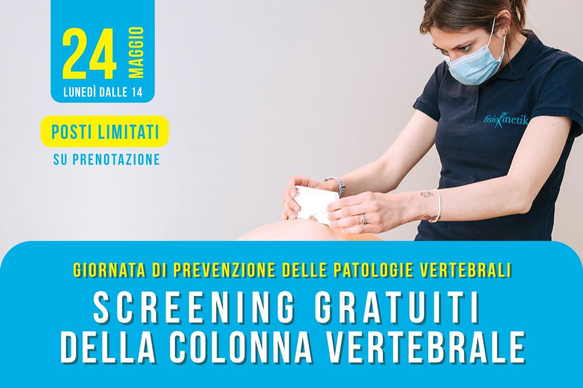 Screening gratuiti della colonna vertebrale a Biella