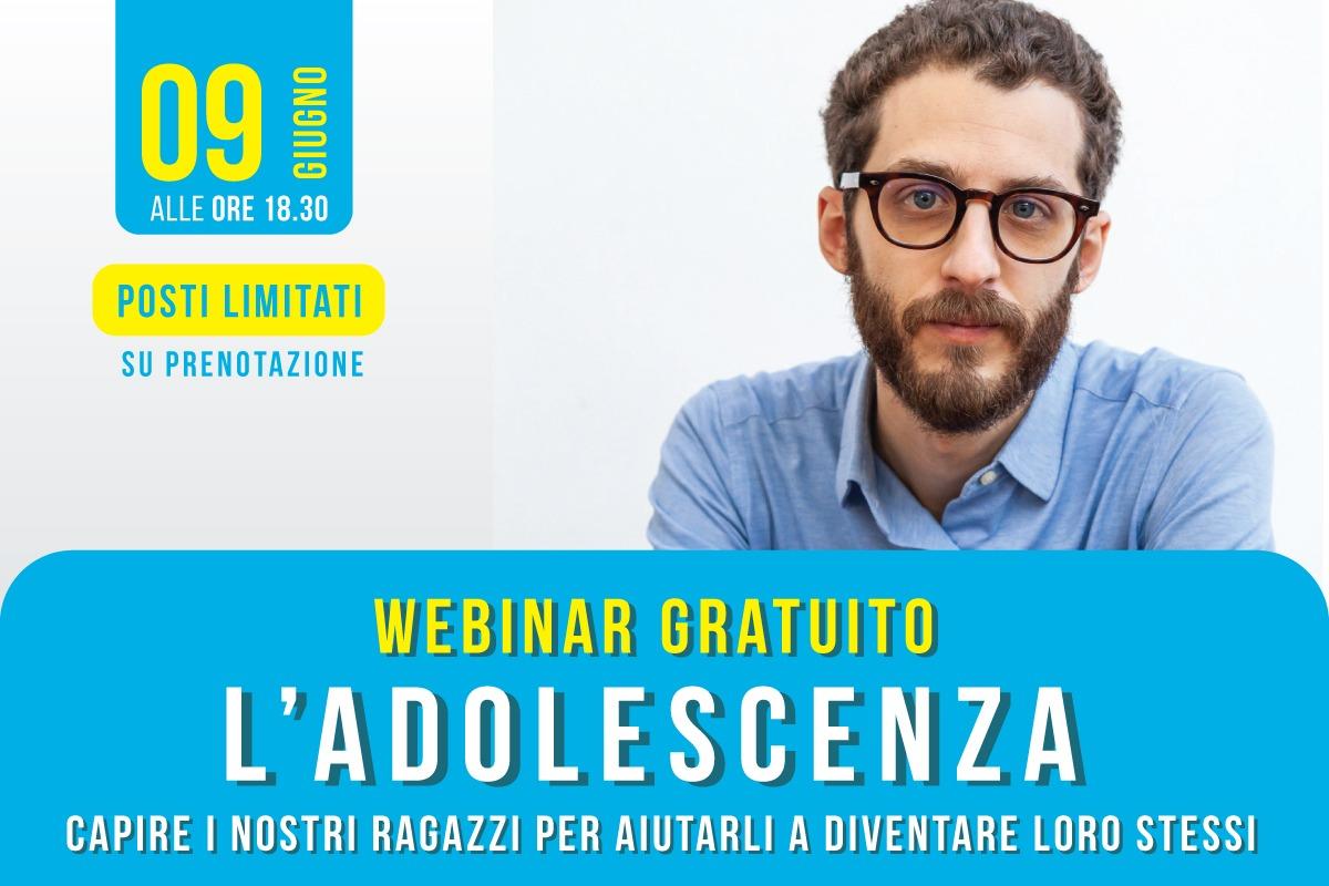 Webinar gratuito L'adolescenza Dott. Stefano Clerico Fisiokinetik Biella